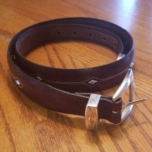 Brighton Leather Belt Size 32